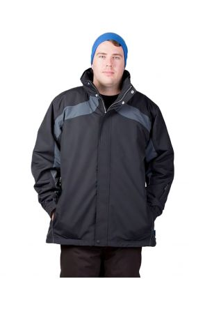 Aggression Trinidad Mens Plus Size Ski Jacket Black Front