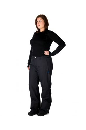 Agression Rio Womens Snow Shell Plus Size Pants Black - Front Side