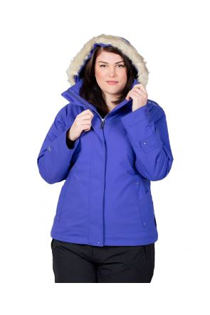 CARTEL BROOKLYN WOMENS PLUS SIZE SKI JACKET STRETCH PURPLE SIZE 22-24