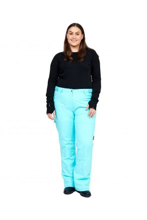 Cartel Queens Womens Plus Size Ski Pants SL Mint Heather 20-26 FRONT