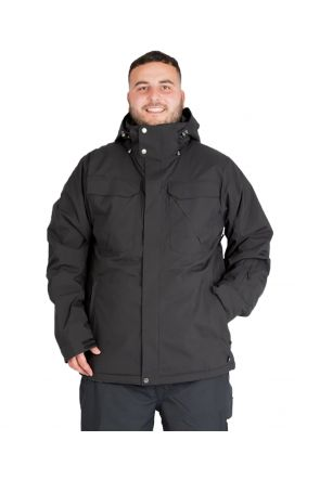 Cartel Baldface / Seymore Mens Plus Size Ski Jacket Black Front