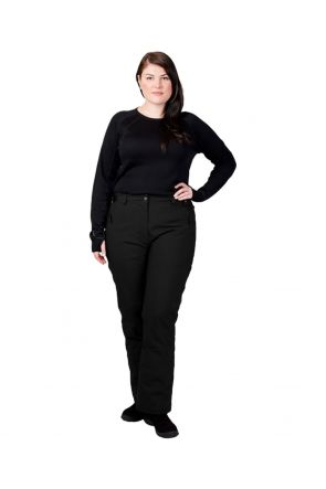 Cartel Whistler Womens Plus Size Ski Pants Black Front
