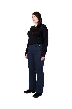 Cartel Whistler Womens Plus Size Ski Pants Navy - Front Profile