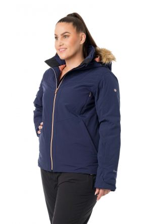 Raiski Aveline Navy Curvy Ski Jacket Front side Ladies