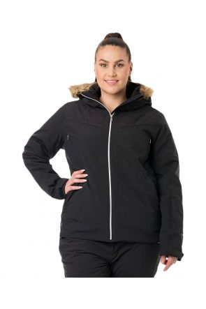 Raiski Aveline Black Womens Curvy Ski Jacket Front 2