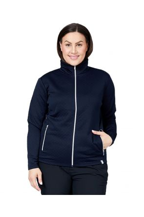 RAISKI SAYURI R+ WOMENS PLUS SIZE SNOW JACKET NAVY SIZES 20-28