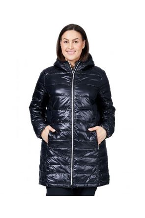 Raiski Swan R+ Womens Plus Size Snow Jacket Black Front