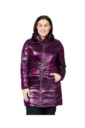 Raiski Swan R+ Womens Plus Size Snow Jacket Potent Purple Front