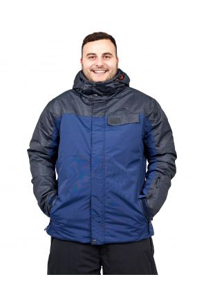 XTM Axel Mens Plus Size Ski Jacket Navy Denim Sizes 3XL-7XL FRONT