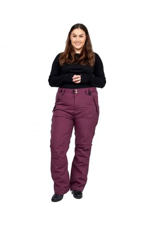 XTM Smooch II Womens Plus Size Ski Pant Shiraz Size 18