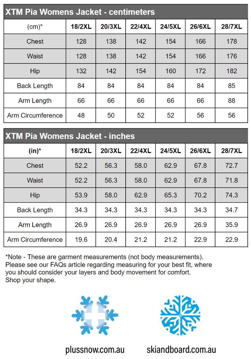 Pia Plus Size Ladies Snow Jacket Shiraz Denim
